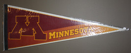 Vintage 80s WinCraft Minnesota Gophers 30x12 Pennant - $4.99