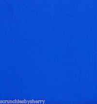 Royal Blue Spandex Hair Scrunchie Scrunchies by Sherry Ponytail Dancewear Fabric - $7.99