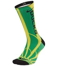 NIKE Oregon Ducks Basketball Sock Men's sz  (6-8) Women's sz (6-10) - $22.49