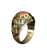 POLICE RING LADIES TRADITIONAL-14KT GOLD - $599.00