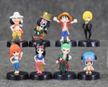 8pcs/lot 5cm Anime One Piece Mini Action Figures The Straw Hats Luffy Roronoa Zo