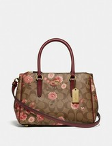 NWT Coach mini Surrey carryall signature canvas floral bag; Rtl $378 - $179.99