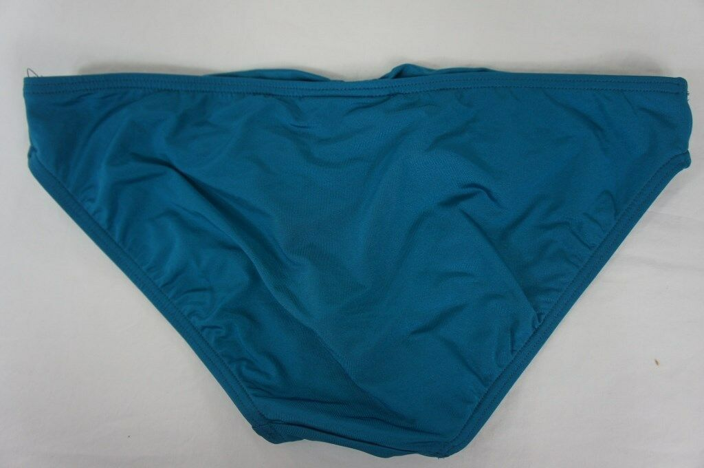 Coco Reef Bikini Bottom Sz M Lagoon Blue Solid Detailed Swimwear Bottom U55661