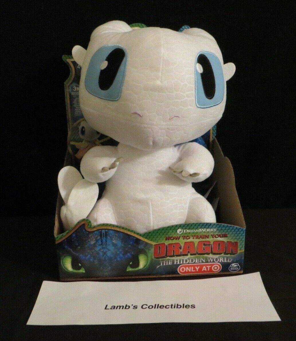 "Primary image for How to train your Dragon The Hidden World Squeeze & Growl 10"" Light Fury plushie"