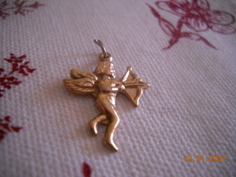 Grandmas Estate Jewelry 14 K Angel Cherub Charm Marked on Back - $59.40
