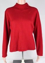 Lauren Ralph Lauren Damen Pullover Rollkragen Rot Merino Wolle Größe 3 X - $18.94