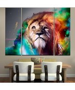 Modern Abstract Art Colorful Lion Paintings on Canvas Wall Art for Home ... - $39.90+