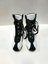 Hi-Top BF2 Adult Size 2M White/Black Dance Sneakers image 1