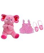 Build a Bear Pink Fuchsia Hearts Ballerina Elep... - $169.95