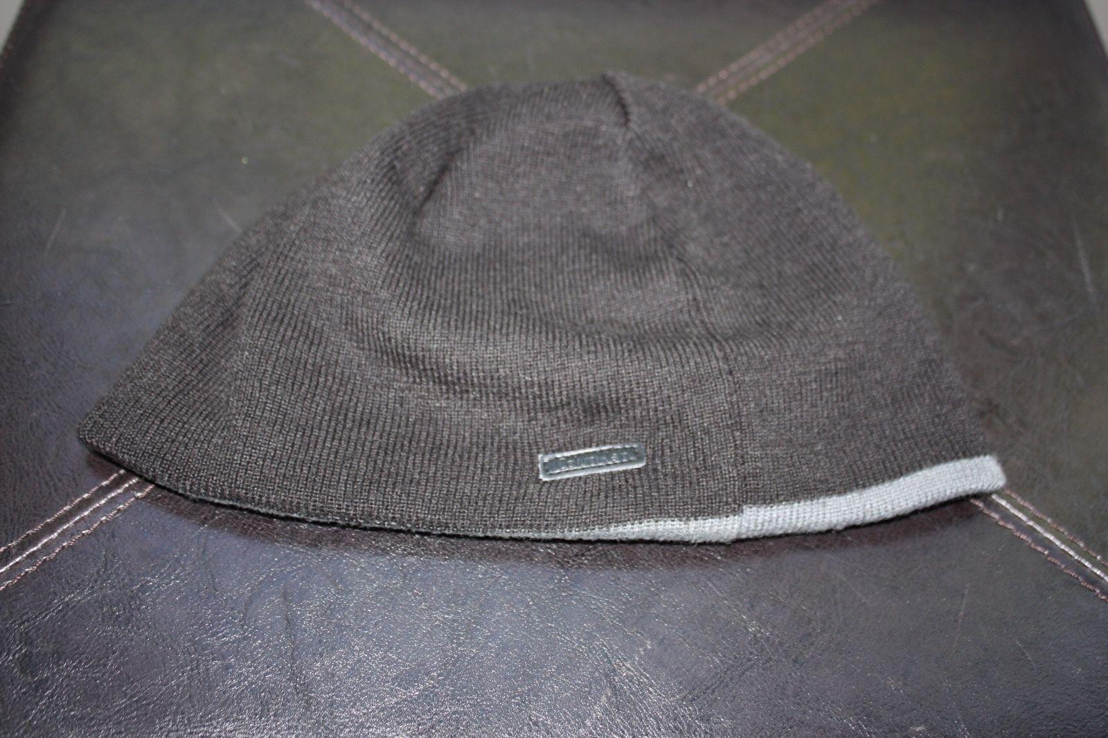 ab7f2026ef6a1 CALVIN KLEIN Men s Jacquard Rev Logo Beanie  Black Grey Winter Hat ...