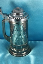 Vintage Avon Lidded Heavy Tinted / Silver Glass Beer Stein - $16.99