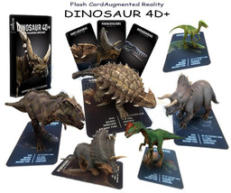 DINOSAUR 4D CARD AUGMENTED REALITY FLASHCARD FOR KIDS - $14.90