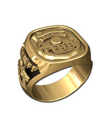 POLICE BADGE RING-10KT GOLD - $1,099.00