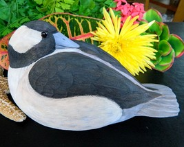 Vintage Bufflehead Duck Bird Hand Carved Wood P... - $79.95
