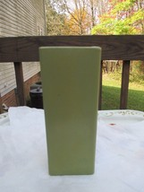 Vintage Floraline Vase Marked 446 USA Green Color - $19.49