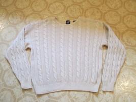 Gap Sweater Men's Yellow Cable Knit Medium - $12.99