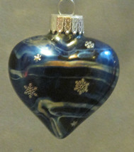 Handcrafted Glass Heart Ornament - $12.00