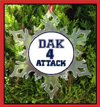 Dak Attack Christmas Ornament - Cowboys - $12.95