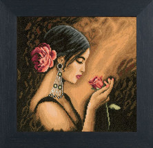 Set cross stitch company Lanarte 38013a Spanish Beauty. Size 30/30 cm. - $41.00