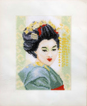 Set cross stitch company Lanarte 11104a Geisha (small). Size 14/19 cm. - $14.00