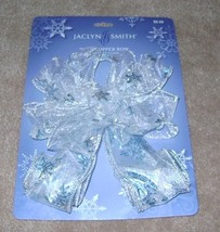 Jaclyn Smith Midnight Clear, Sheer Tree Topper Bow.   - $7.50