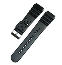 22mm Black Rubber Replacement Band Strap For Ca... - $6.92