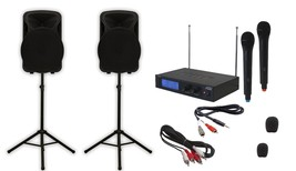 """Dual 12"""" Bluetooth iOS/Android?laptop/TV Youtube Tailgate Karaoke System - $326.32"""