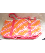 Bath & Body Works Beach Shopping Bag Pink & Orange Canvas 18 X 11  - $7.90