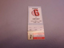 Kentucky Wildcats vs Georgia Bulldogs 2-5-1989 Basketball Game Ticket Stub - $5.00