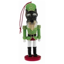 SCHNAUZER CROPPED DOG CHRISTMAS ORNAMENT NUTCRACKER SOLDIER HOLIDAY XMAS... - $12.98