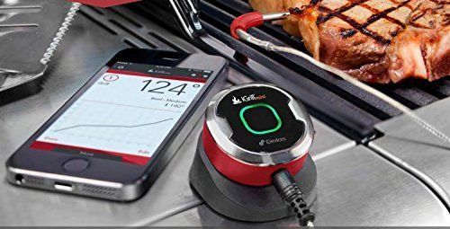 Grill Thermometer Mini Bluetooth Smart Smoker LED PERFECT Mens Christmas Gift