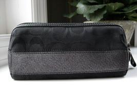 Coach EUC Zippered Cosmetic Makeup Bag BLACK Si... - $45.60