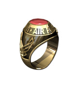 US AIR FORCE RING MENS TRADITIONAL-10KT GOLD - $1,099.00