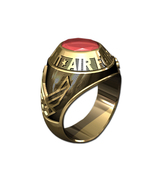 US AIR FORCE RING MENS TRADITIONAL-14KT GOLD - $1,599.00