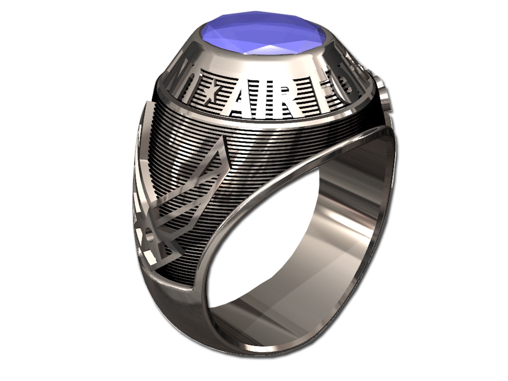 US AIR FORCE RING MENS TRADITIONAL-Sterling Silver