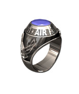 US AIR FORCE RING MENS TRADITIONAL-Silvertone - $295.00