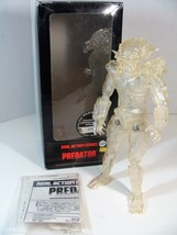 "MEDICOM REAL ACTION SERIES PREDATOR 12"" ACTION FIGURE CLEAR VERSION! - $74.24"