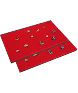 "2 Piece 144 Jewelry Red Insert Display Pads  14 3/4"" x 7 3/4"" x 1/2"" - $14.95"