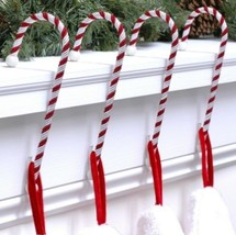Haute Decor CC0402R Candy Cane Stocking Holder, 4-Pack, Classic Red And ... - $34.65