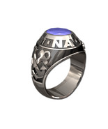 US NAVY RING MENS TRADITIONAL-Silvertone - $295.00
