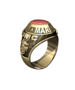 US MARINE CORPS RING MENS TRADITIONAL-14KT GOLD - $1,599.00
