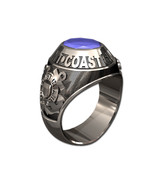 US COAST GUARD RING MENS TRADITIONAL-Sterling Silver - $325.00