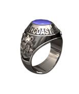 US COAST GUARD RING MENS TRADITIONAL-Silvertone - $295.00