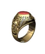 US COAST GUARD RING MENS TRADITIONAL-14KT GOLD - $1,599.00