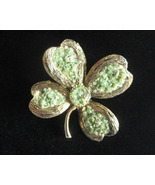 Vintage Hand Made Brooch WIth Green Crushed Ave... - $32.40