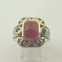 BJC 14k Yellow Gold  And Silver Vintage Ring With Jade Center  Stone  - $130.90