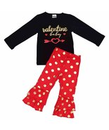 Unique Baby Girls Polka Dot Valentine Baby 2 Piece Outfit (7/XXL, Red) - $24.99