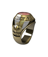 US ARMY RING MENS TRADITIONAL-14KT GOLD - $1,599.00