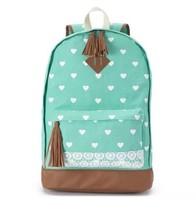 Mudd - Tiffany Mint/Turquoise & White Hearts Ba... - $27.08