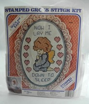 Now I Lay Me Down To Sleep Stamped Cross Stitch Kit by New Berlin Co - 7... - $9.45